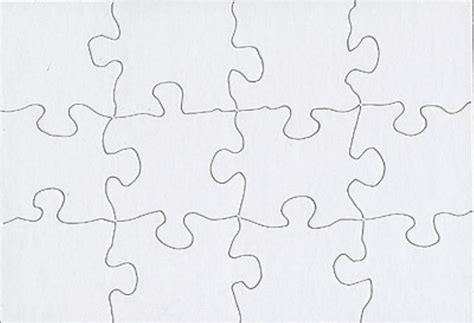 Blank Jigsaw Puzzle Template Free Download 3 Puzzle Template