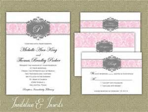 printable wedding card inserts printable wedding invitation and inserts pink by elegantprints