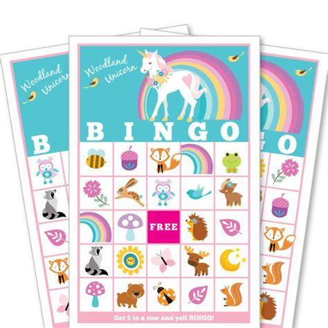printable bingo tickets uk woodland unicorn bingo game kid s printable bingo game