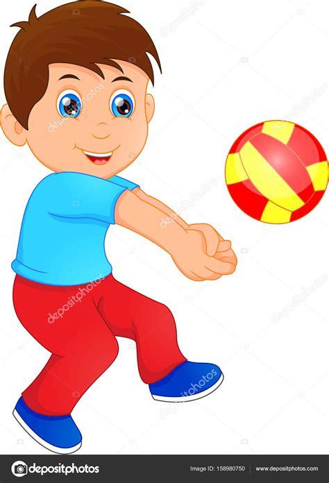 imagenes de niños jugando volibol divertido ni 241 o jugando voleibol vector de stock