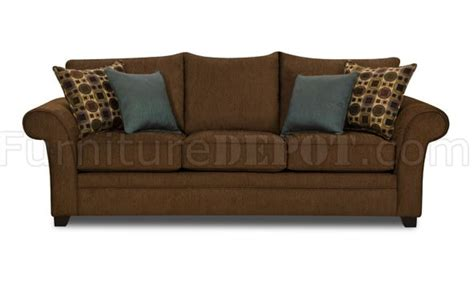 brown fabric sofa loveseat set w accent throw pillows
