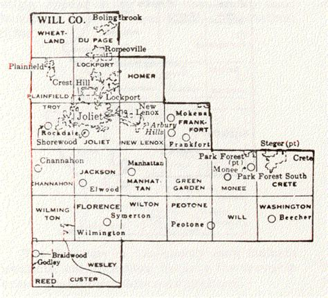 map of joliet il will county illinois maps and gazetteers