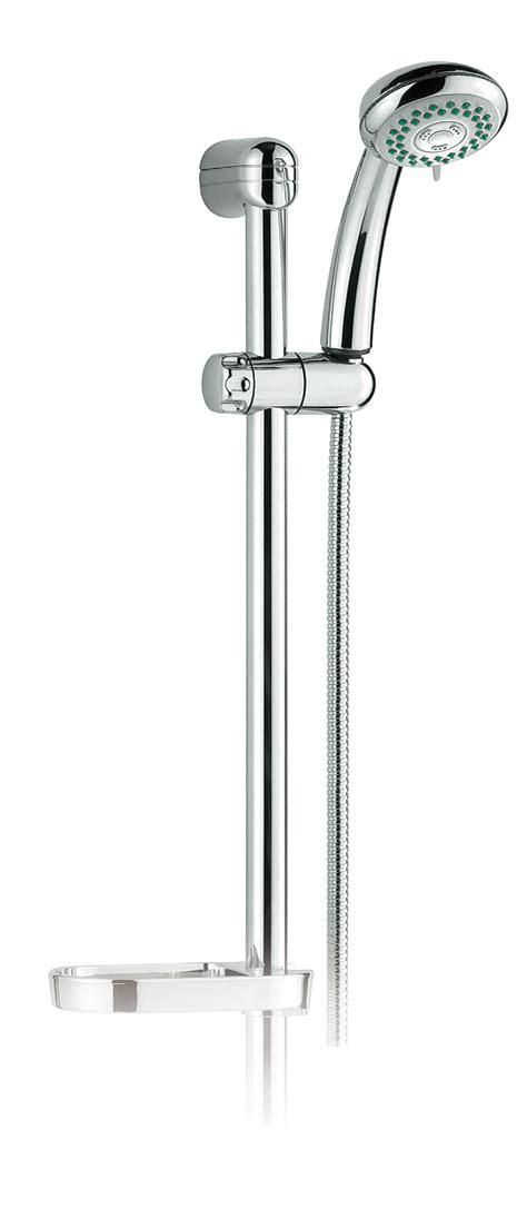 sali scendi doccia saliscendi doccia lara 2 getti interasse 60 cm cromo con