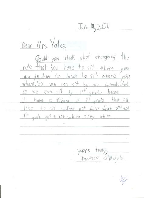 opening doors grade persuasive letter writing samples