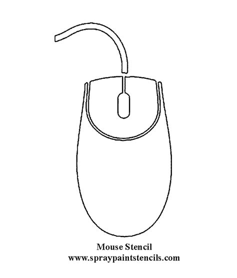 mouse paint template free electronic stencils