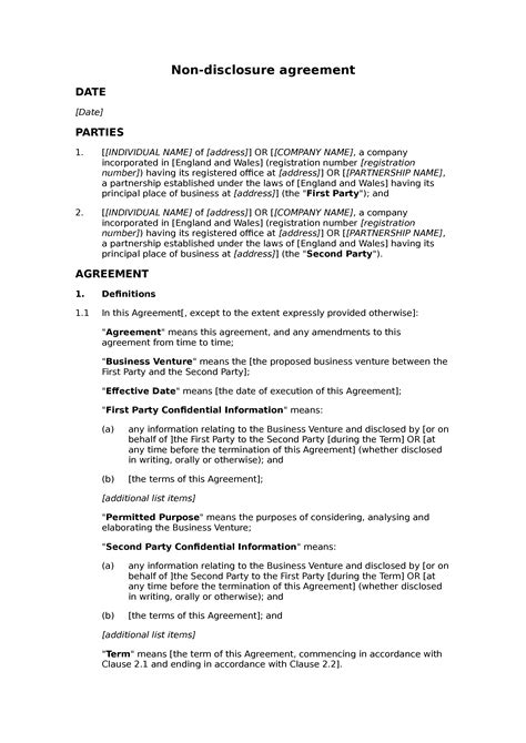 ncnd agreement template 100 resignation agreement non compete sle