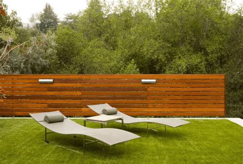 modern fence how a horizontal wood fence can impact the landscape and