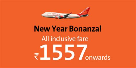 new year airfare sale india cleartrip