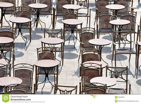 Outside Table Chairs Outdoor Tables And Chairs Royalty Free Stock Images
