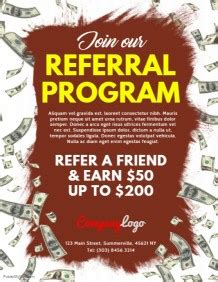 Customizable Design Templates For Referral Program Postermywall Referral Program Flyer Template