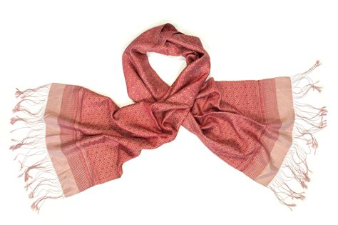 silk fair trade scarf ruby counting flowers
