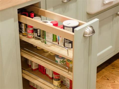 Pull Out Spice Racks For Kitchen Cabinets Bloombety Pull Out Spice Rack For Kitchen Cabinet