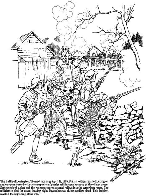 revolutionary war map coloring page coloring pages