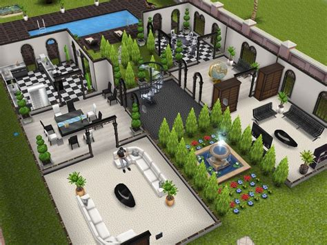 sims freeplay house floor plans three story mansion 1st floor designedbyjade sims