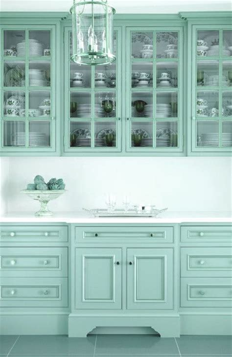 Turquoise Painted Kitchen Cabinets Aqua Kitchen Cabinets Kitchens Pinterest