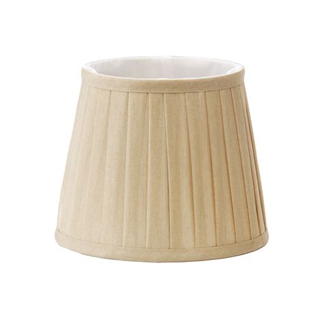 candle l with shade elstead ls160 clip on pleated coffee candle silk shade