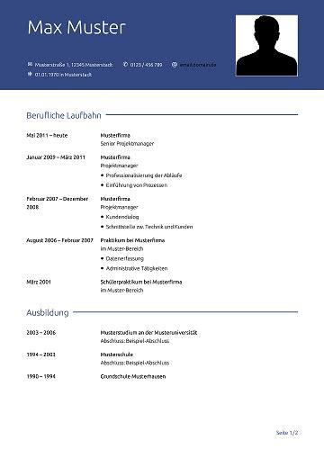 Aktueller Lebenslauf 2016 by Lebenslauf Vorlage Kostenlose Vorlagen F 252 R Die Bewerbung