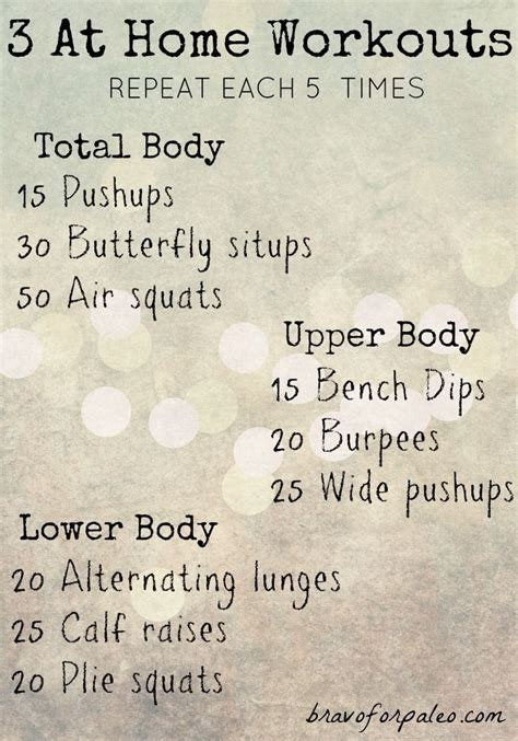 superb work out plans at home 3 at home workouts without