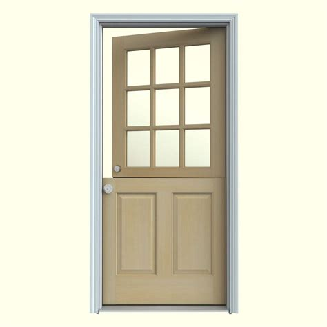 interior dutch door home depot jeld wen 30 in x 80 in 9 lite unfinished dutch fir wood