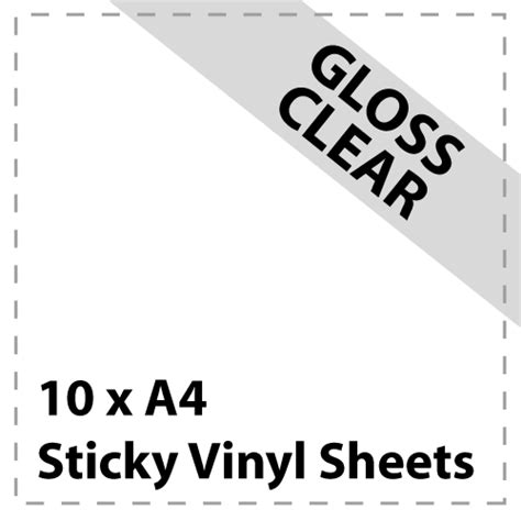 cricut printable vinyl uk 10 x a4 gloss clear sticky vinyl sheets craft robo
