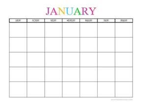 Calendar 2018 Blank Free Printable Blank Monthly Calendars 2017 2018 2019