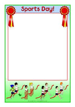 design of invitation card for sports day sports day a4 page borders sb4764 sparklebox