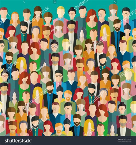 graphic design crowd crowd abstract people flat design vector stock vector