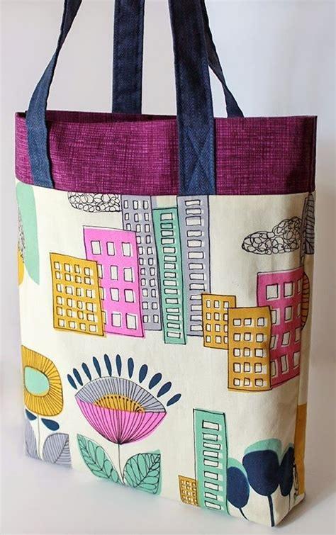 Tas Tote Bags Stitch tri color ten step tote bag pattern tote bag patterns
