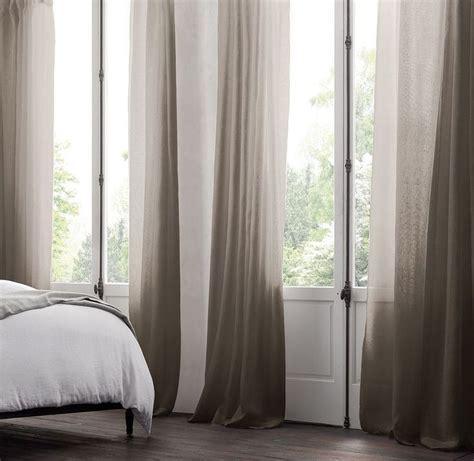 restoration hardware sheer curtains belgian sheer linen drapery charcoal restoration hardware