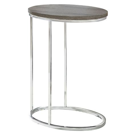 oval accent tables prescott modern gray washed oval accent table eurway