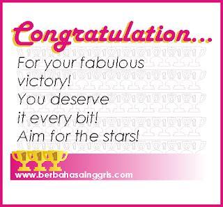 contoh kartu ucapan congratulation wanita cantik