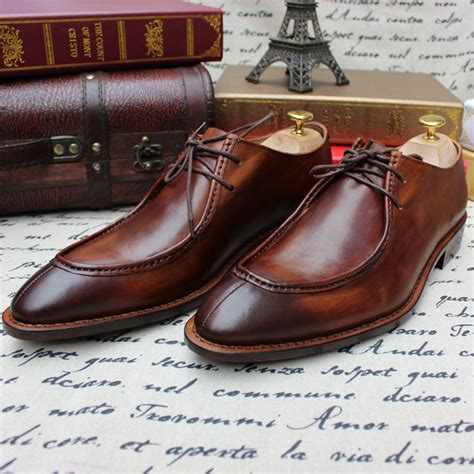 Mens Leather Shoes Handmade - buy summer gentlemen simple style goodyear handmade