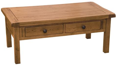 rustic oak 3 x 2 coffee table with drawers buy