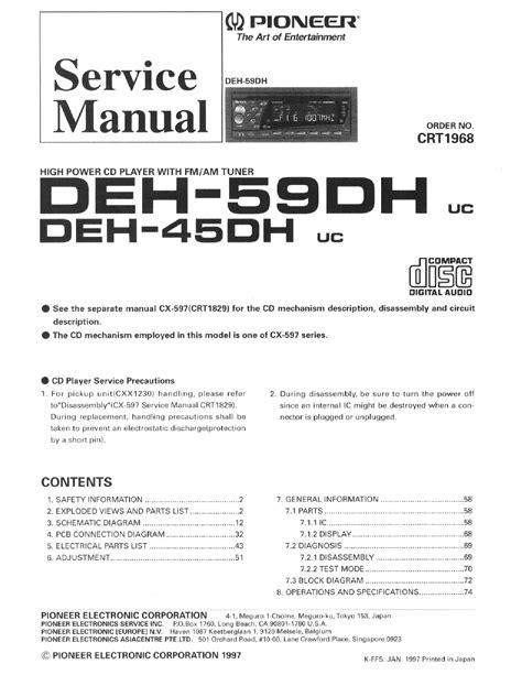 pioneer deh 1400 wiring diagram 28 images pioneer deh
