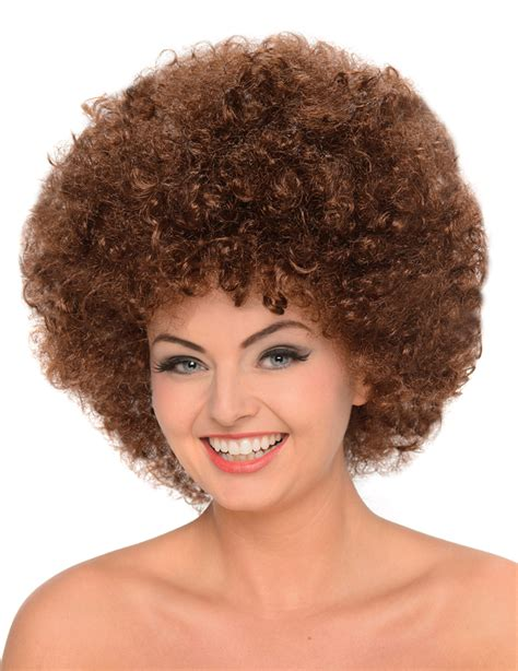 styling an afro wig brown afro style wig for adults wigs and fancy dress