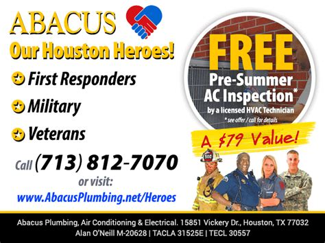 Abacus Plumbing by Abacus Launches We Our Houston Heroes Caign