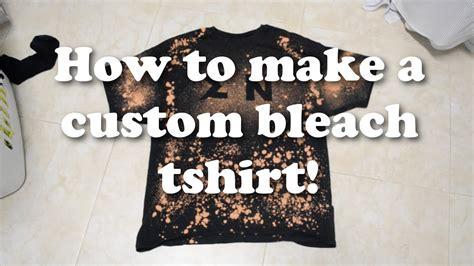 bleach pattern on t shirt how to make a custom bleach t shirt youtube