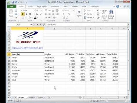 Spreadsheet Tutorial Excel 2010 by Excel 2010 Tutorial For Beginners 1 Overview Micros