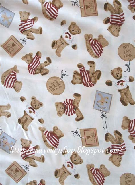 teddy bear upholstery may may shop 02 vintage teddy bear cotton fabric