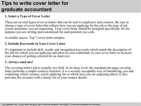cover letter for accounting graduate graduate accountant cover letter