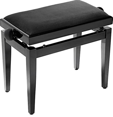 how tall is a piano bench stagg piano bench w adjustable height black reverb