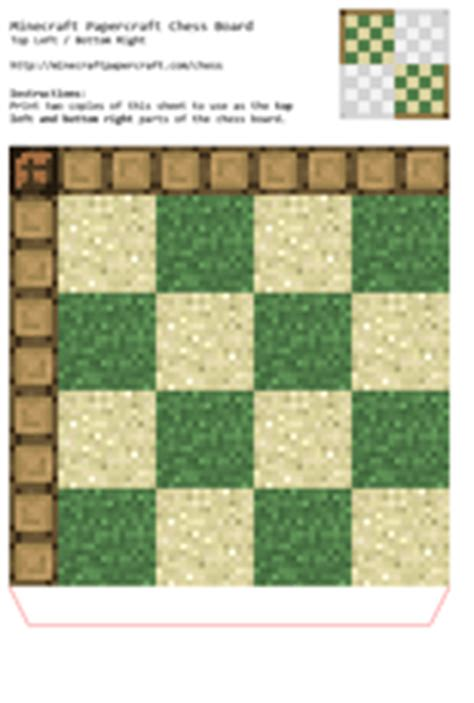 Minecraft Papercraft Chess - minecraft papercraft chess print minecraft papercraft chess