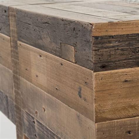 wood block side table emmerson reclaimed wood block side table elm