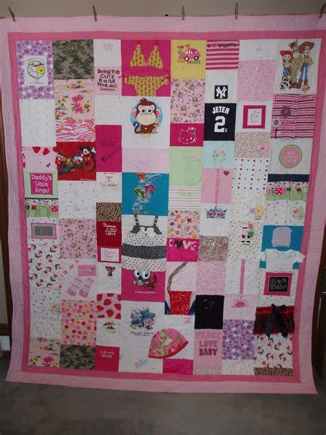 Quilts Made With Baby Clothes by Size Quilt Made From Your Baby Clothes Custom