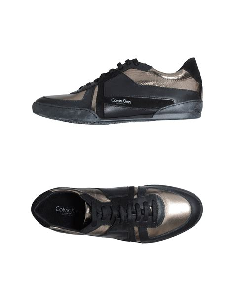 calvin klein sneakers mens calvin klein sneakers in black for bronze lyst