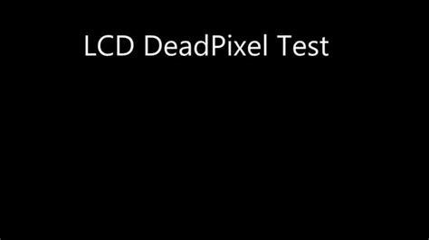 dead pixel test lcd deadpixel test