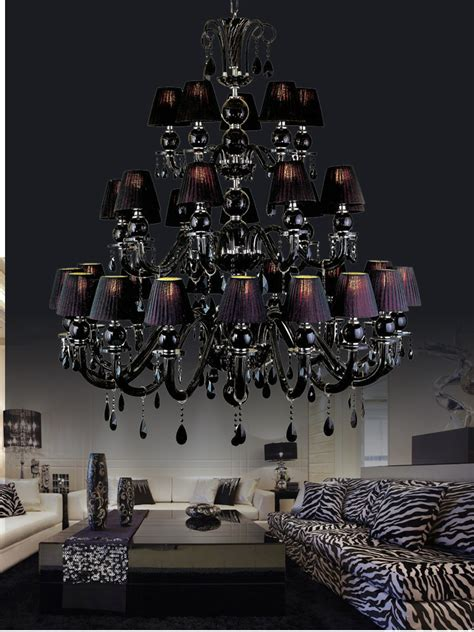 black chandelier dining room 30 lights large black chandelier l with shades for