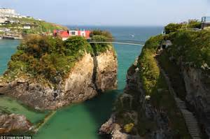house newquay cornwall s the house in the sea can only be reached by