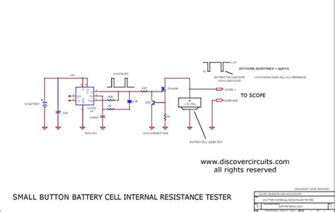how to measure resistance of a variable resistor button battery cell resistance measurement circuit measuring and test circuit