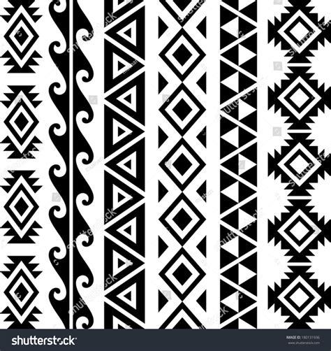 aztec tribal pattern vector aztec tribal seamless pattern designs stock vector